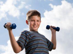Children who exercise develop healthy bones.