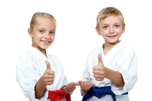 Martial arts provides children the opportunity to develop social skills.