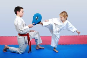 Martial arts teaches children how to stay positive throughout discouraging times.
