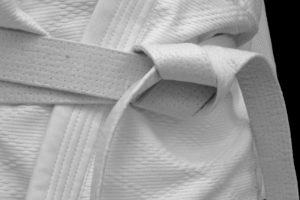 white martial arts belt