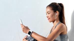 Girl improving mental health by exercising