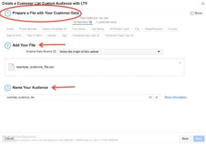 Facebook remarketing prospect email list