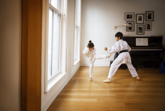 Kids practicing Martial arts during Covid-19