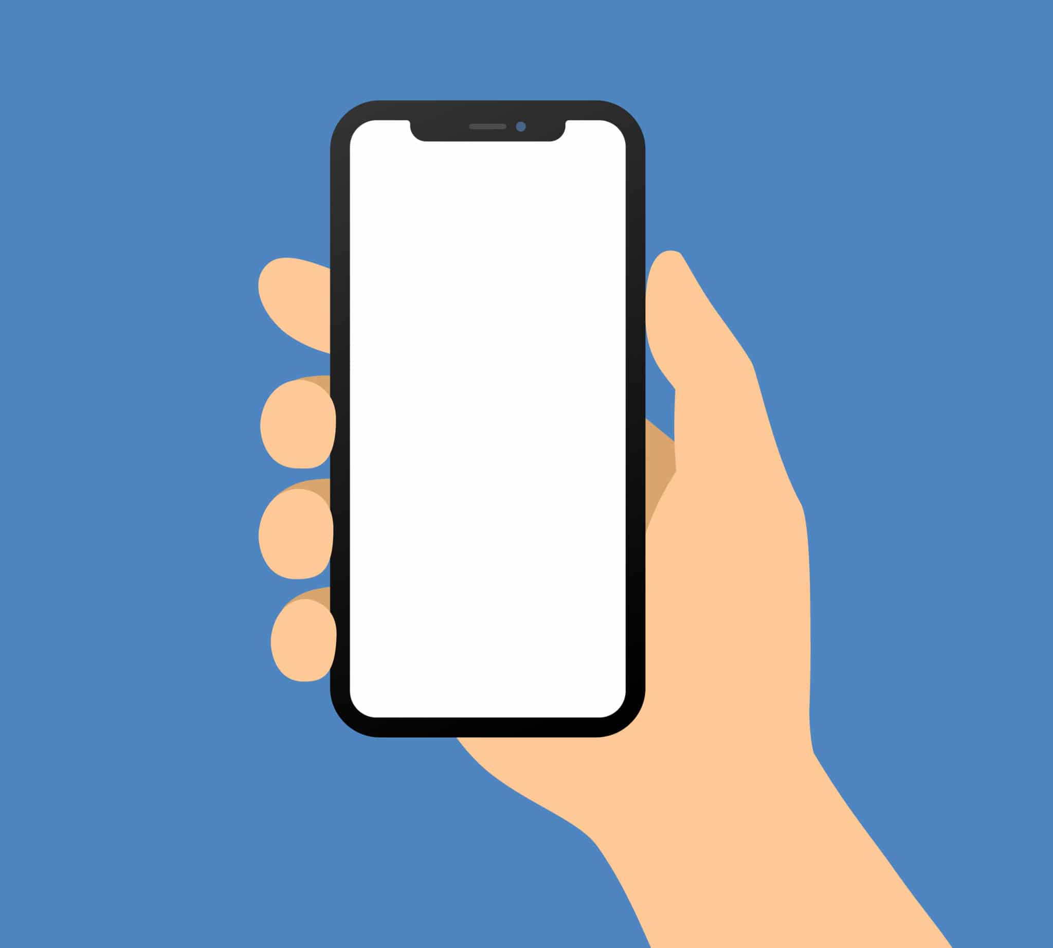 illustration of person holding iphone